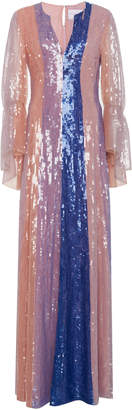 Carolina Herrera Sequin Embroidered Gown