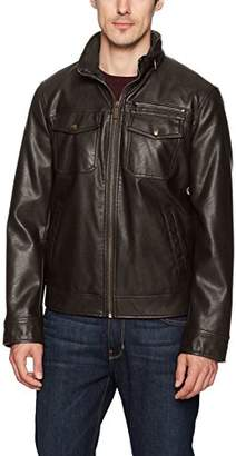 Dockers Faux Leather Classic Trucker Jacket