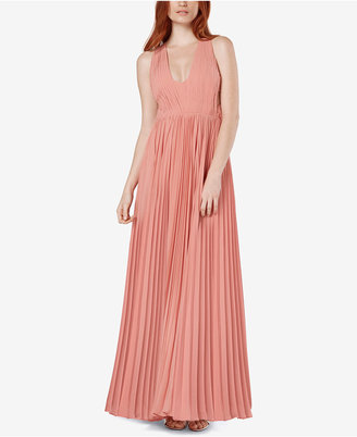 Fame and Partners Pleated U-Neck Maxi Gown $229 thestylecure.com