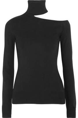 Emilio Pucci Cutout Stretch-Knit Turtleneck Top