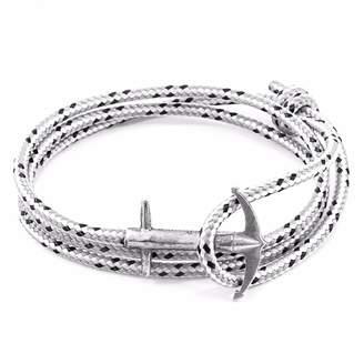 ANCHOR & CREW - Grey Dash Admiral Anchor Silver & Rope Bracelet
