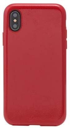 Sonix Black Patent Faux Leather iPhone X Case