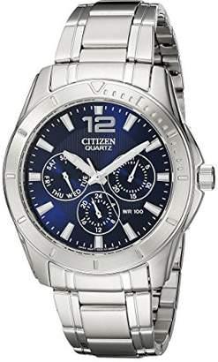 Citizen Men's Quartz Stainless Steel Watch with Day/Date