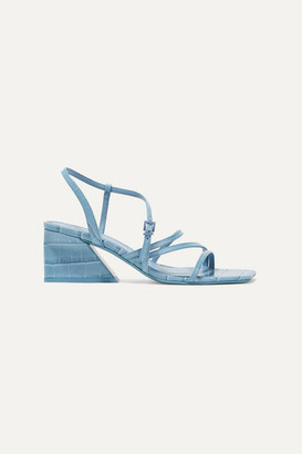 Mercedes Castillo Kelise Croc-effect Leather Sandals - Light blue