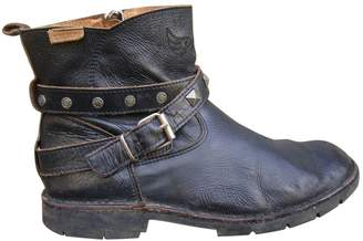 Ikks Leather strap boots