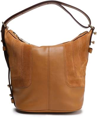 Marc Jacobs Suede-paneled Leather Shoulder Bag