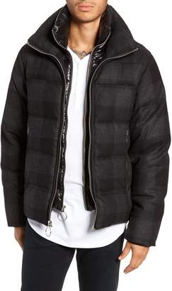 The Very Warm Crosby Plaid Wool Bib Puffer Jacket