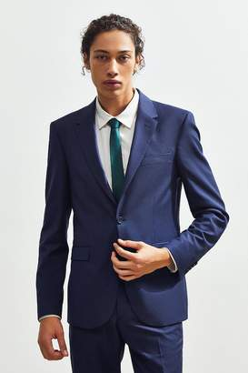 Urban Outfitters Navy Blue Skinny Fit Single Breasted Suit Blazer