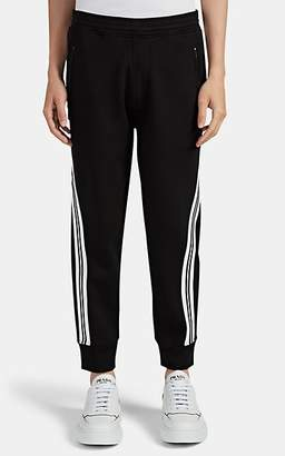 Neil Barrett Men's Side-Striped Neoprene Jersey Jogger Pants - Black