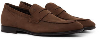 Tod's Nubuck Penny Loafers - Men - Brown