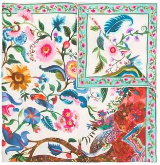 Salvatore Ferragamo Tree of Life print scarf
