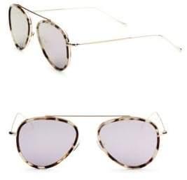 Illesteva Dorchester Ace 55mm Aviator Sunglasses