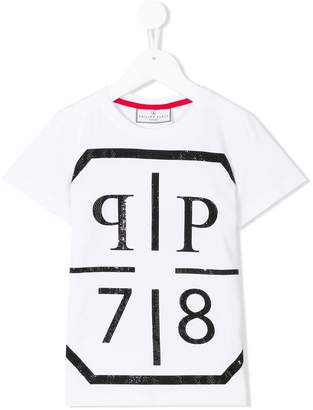 Philipp Plein Junior embellished logo T-shirt