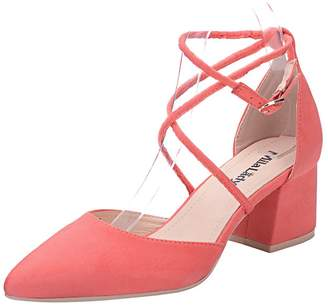 Mila Louise Lady (Paula D'Orsay Strappy Ankle Elegance Platform Lady Low Heeled Point Toe Pumps Shoes ! 8.5