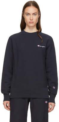 Champion Reverse Weave Navy Small Logo Sweatshirt