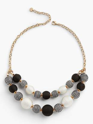 Talbots It's A Wrap Spheres Necklace