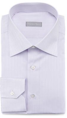 Stefano Ricci Micro-Striped Dress Shirt