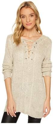 BB Dakota Jackson Sequin Sweater with Back Detail Women's Sweater