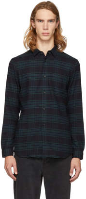 John Elliott Blue and Navy Check Shirt
