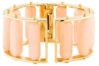 Lele Sadoughi Bar Stone Hinged Slider Bangle