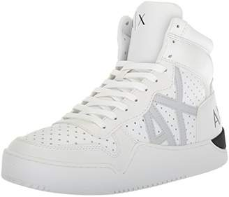 Armani Exchange A|X Men's High Top Perforated Lace Up Sneakers