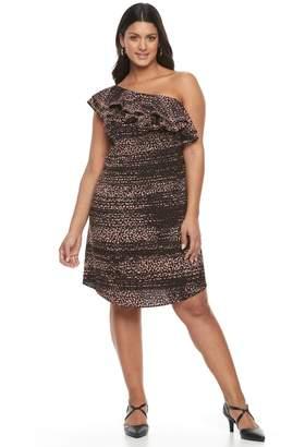 Apt. 9 Plus Size One Shoulder Ruffle Dress