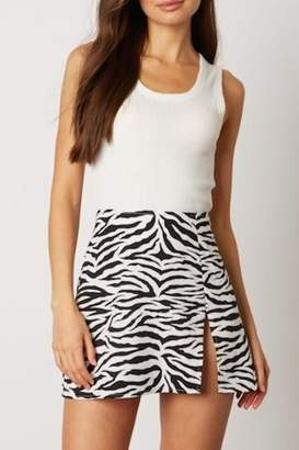 Cotton Candy Zebra Mini Skirt