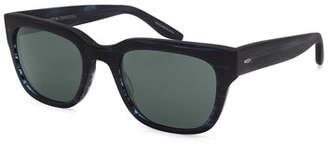 Barton Perreira Men's Stax Rectangular Acetate Sunglasses,