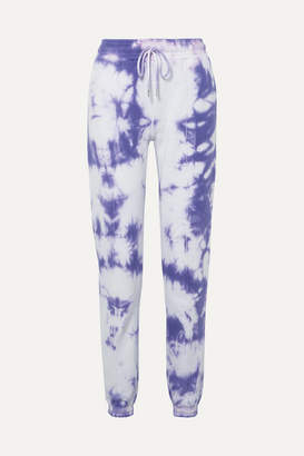 Ninety Percent Tie-dyed Organic Cotton-jersey Track Pants - Purple