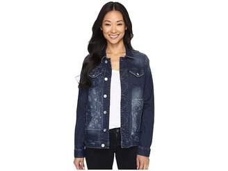 Jag Jeans Lowen Laser Mission Denim Jacket in Rapid Dark Women's Coat