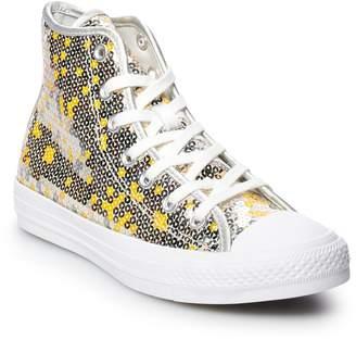 e2d3802402b Converse Women s Chuck Taylor All Star Sequins High Top Shoes
