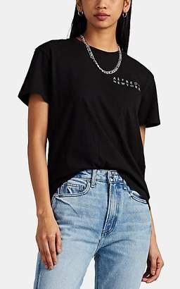 "Barneys New York Women's ""Alfreds New York"" Cotton T-Shirt - Black"