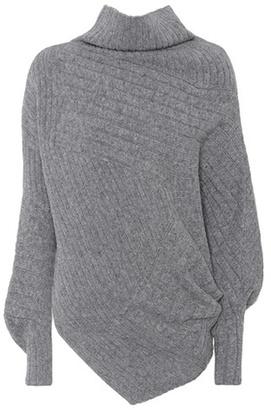 Asymmetric virgin wool sweater