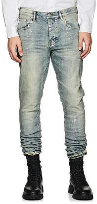 Purple Men's P001 Metallic Slim Jeans