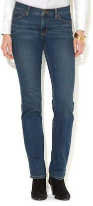 Lauren Ralph Lauren Petite Super Stretch Slimming Classic Straight Jean