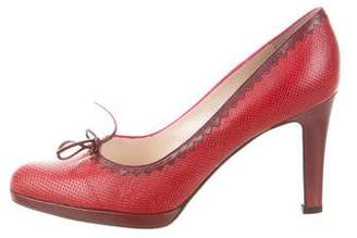 Christian Dior Bow-Accented Karung Pumps w/ Tags