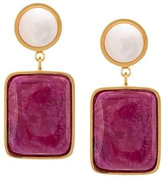 Lizzie Fortunato pearl post earrings