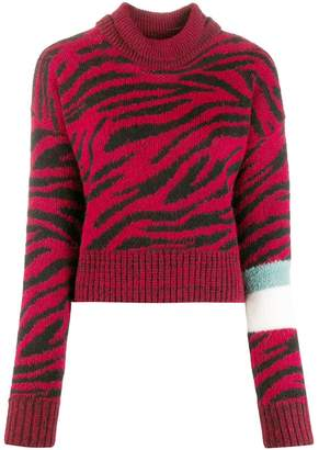 Brognano roll-neck zebra print sweater