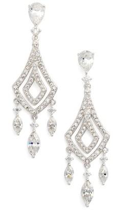 Women's Nadri Cubic Zirconia Chandelier Earrings $100 thestylecure.com