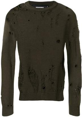 DSQUARED2 ripped effect jumper