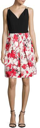 Carmen Marc Valvo Women's Floral Skirt Dress