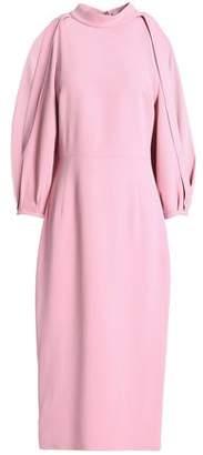 Cushnie et Ochs Gina Cold-Shoulder Crepe Midi Dress