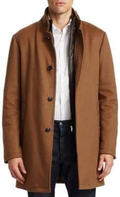 Saks Fifth Avenue COLLECTION Cashmere& Wool Topcoat
