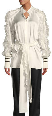 Maggie Marilyn I Am In Awe Of You Long-Sleeve Ruffle Shirt