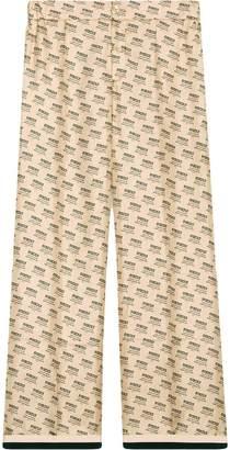 Gucci invite stamp silk pants