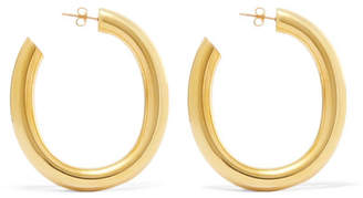 Laura Lombardi Curve Gold-tone Hoop Earrings - one size