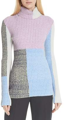 3.1 Phillip Lim Patchwork Ribbed Sweater