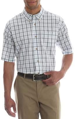 Wrangler Tall Men's Short Sleeve Wrinkle Resist Plaid Shirt