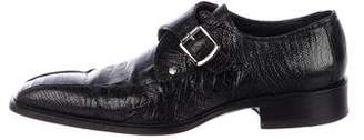 Versace Alligator Monk Strap Shoes