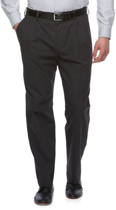 Croft & Barrow Big & Tall Classic-Fit Easy-Care Stretch Pleated Khaki Pants